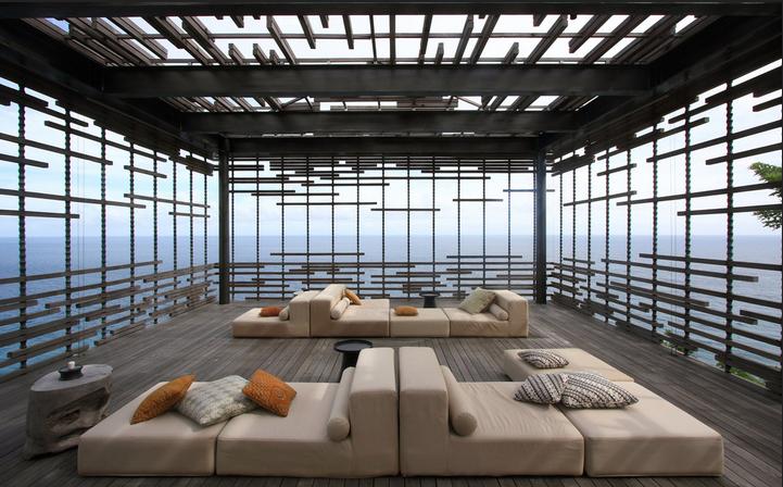 Lounge hôtel de luxe