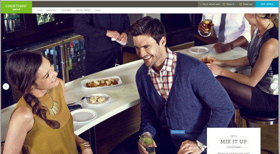 Home page nouveau site Courtyard by Marriott