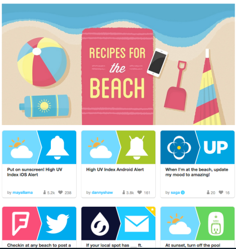 Recipes for the Beach IFTTT