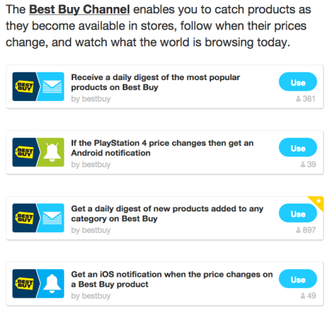 IFTTT Best Buy recipes