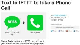 Recette IFTTT faux appel