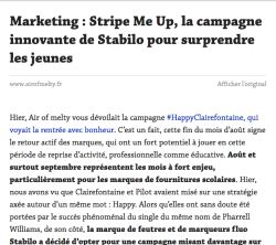 Article Melty affiché dans Reader simpliifé Pocket