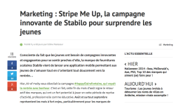 Article Melty affiché dans Browser