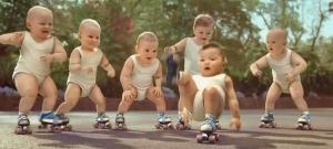Bébés rollers Evian
