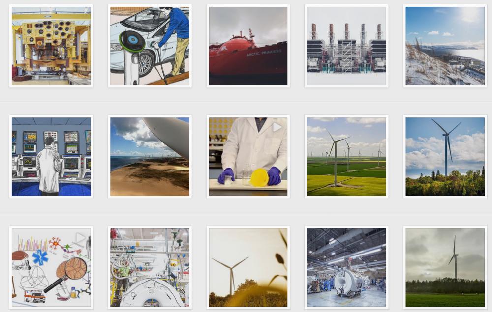 Capture d'écran instagram General Electric