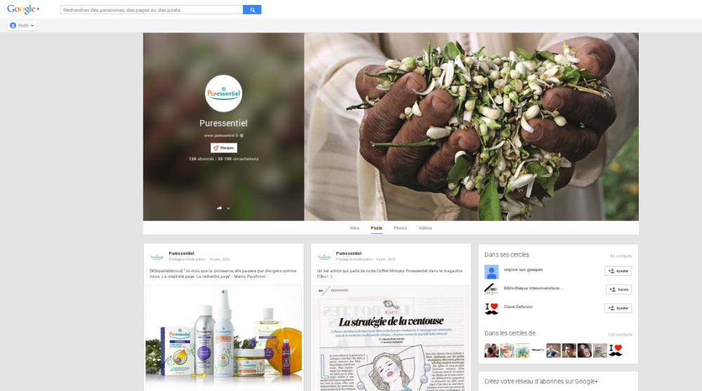 Google + Puressentiel