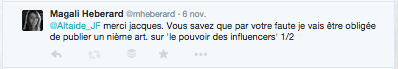 Echange tweets chiche