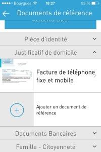 Capture écran dossier administratif