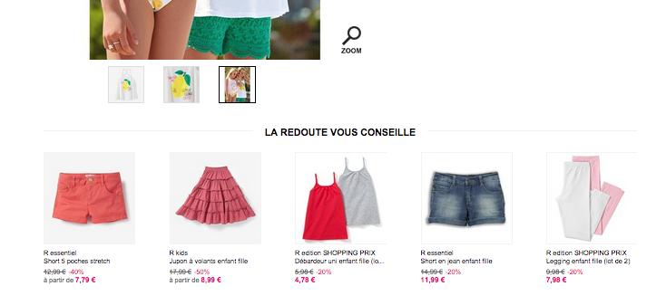 Page site la redoute.fr