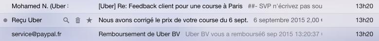 Mails Uber