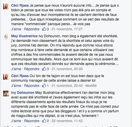 Commentaires Facebook Golden Blog Awards 3