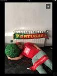 Supporter portugal dort par terre